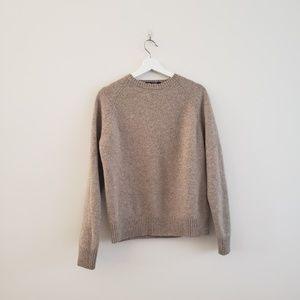 J. Crew Women's Light Beige Scoop Neck Sweater